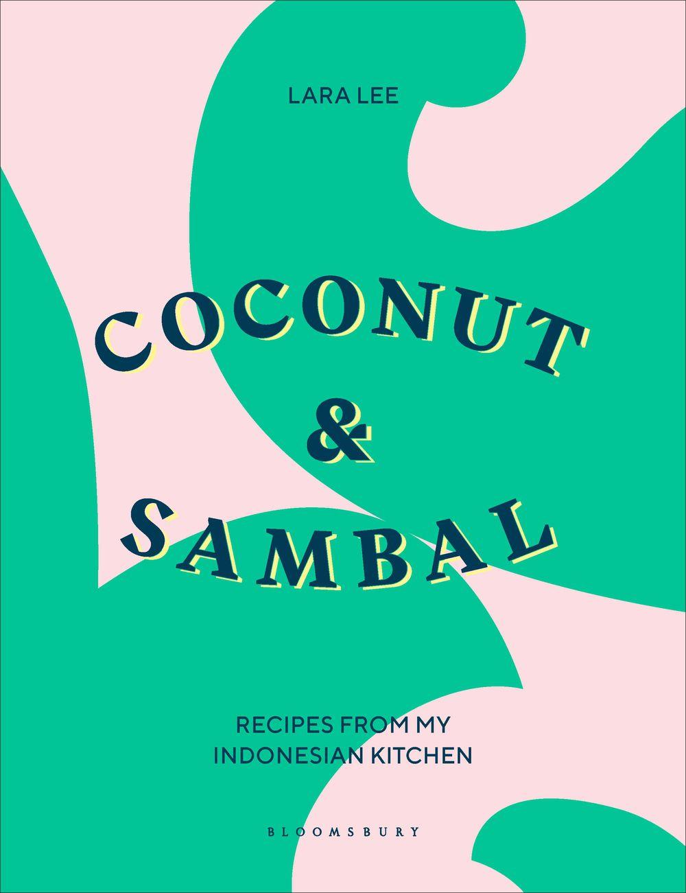 La couverture pour Coconut & amp; Sambal avec un fond abstrait rose et vert
