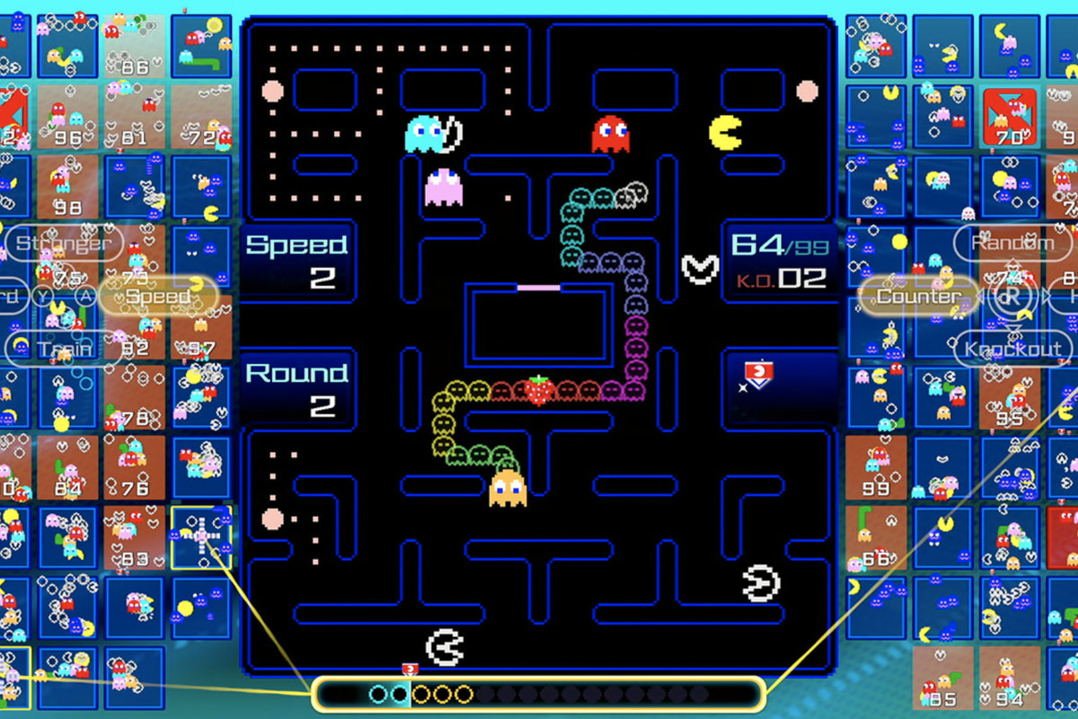 Pac-Man 99 is a new battle royale game for the Switch