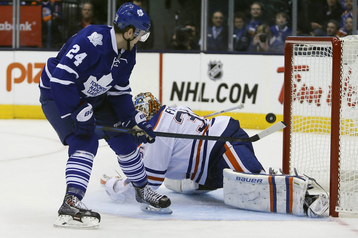 Peter Hollan puts away the Leafs 5th goal of the night