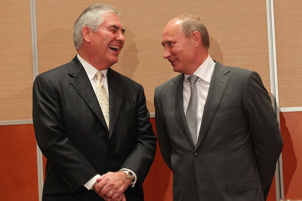 Donald Trump's pick for secretary of state is a Putin