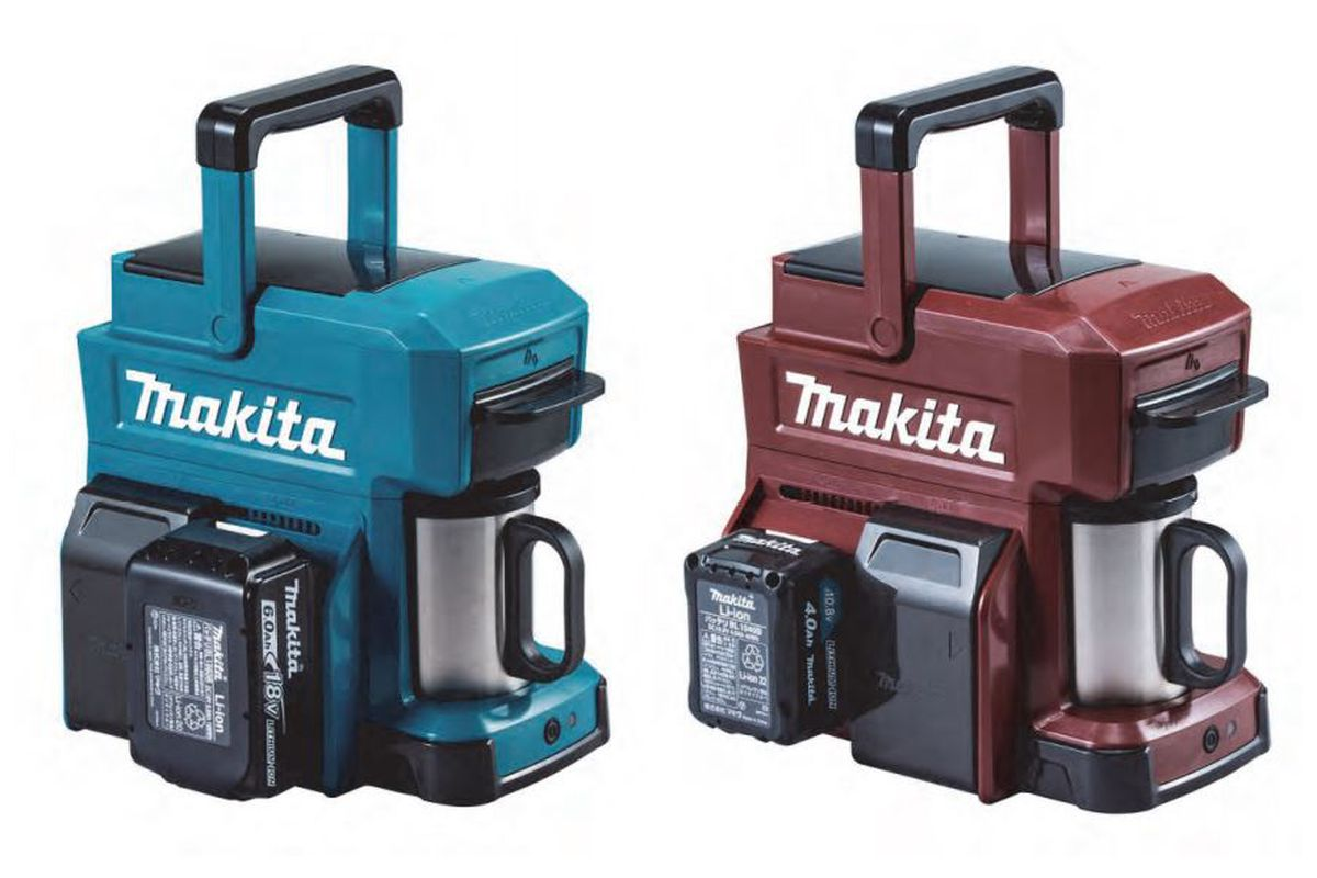 Anese Tools Manufacturer Makita Has Released A New Rugged Coffee Maker That Runs On Battery The Cm501dz Uses Same Lithium Ion