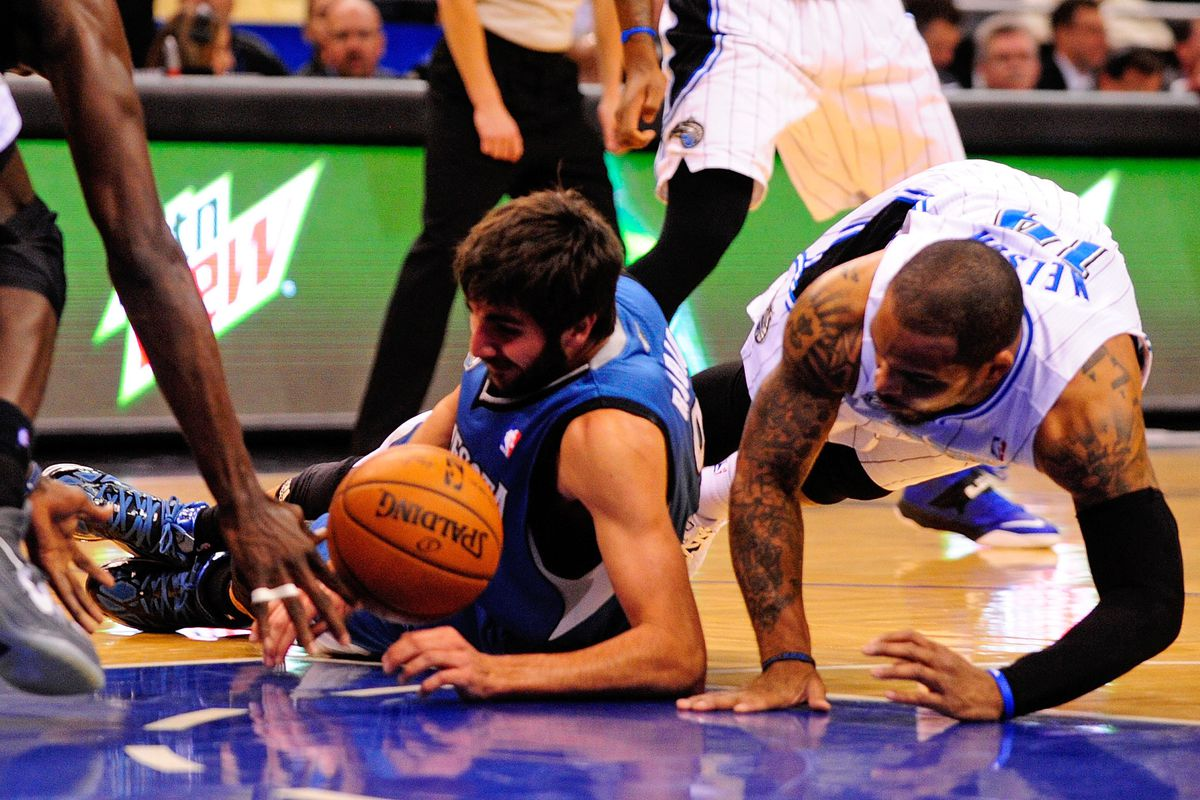Ricky Rubio and Jameer Nelson