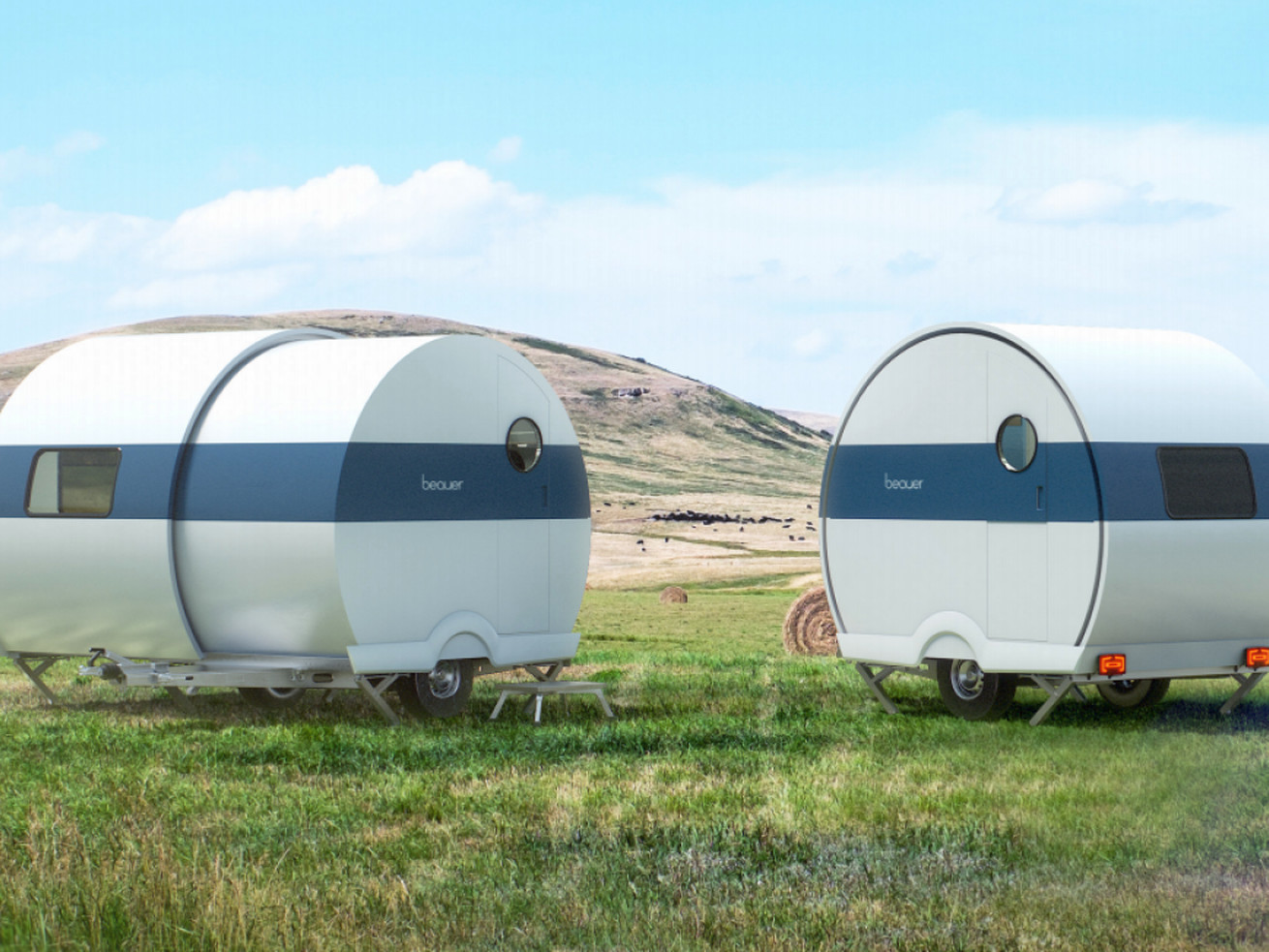 Tiny camper trailer expands to double its size in 60 seconds
