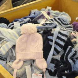 Baby's pink cashmere hat, $26 (was $104)