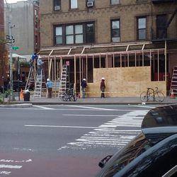 "Starbucks via <a href=""http://evgrieve.com/2011/10/breaking-starbucks-plywood-going-up-on.html"" rel=""nofollow"">EVG</a>"