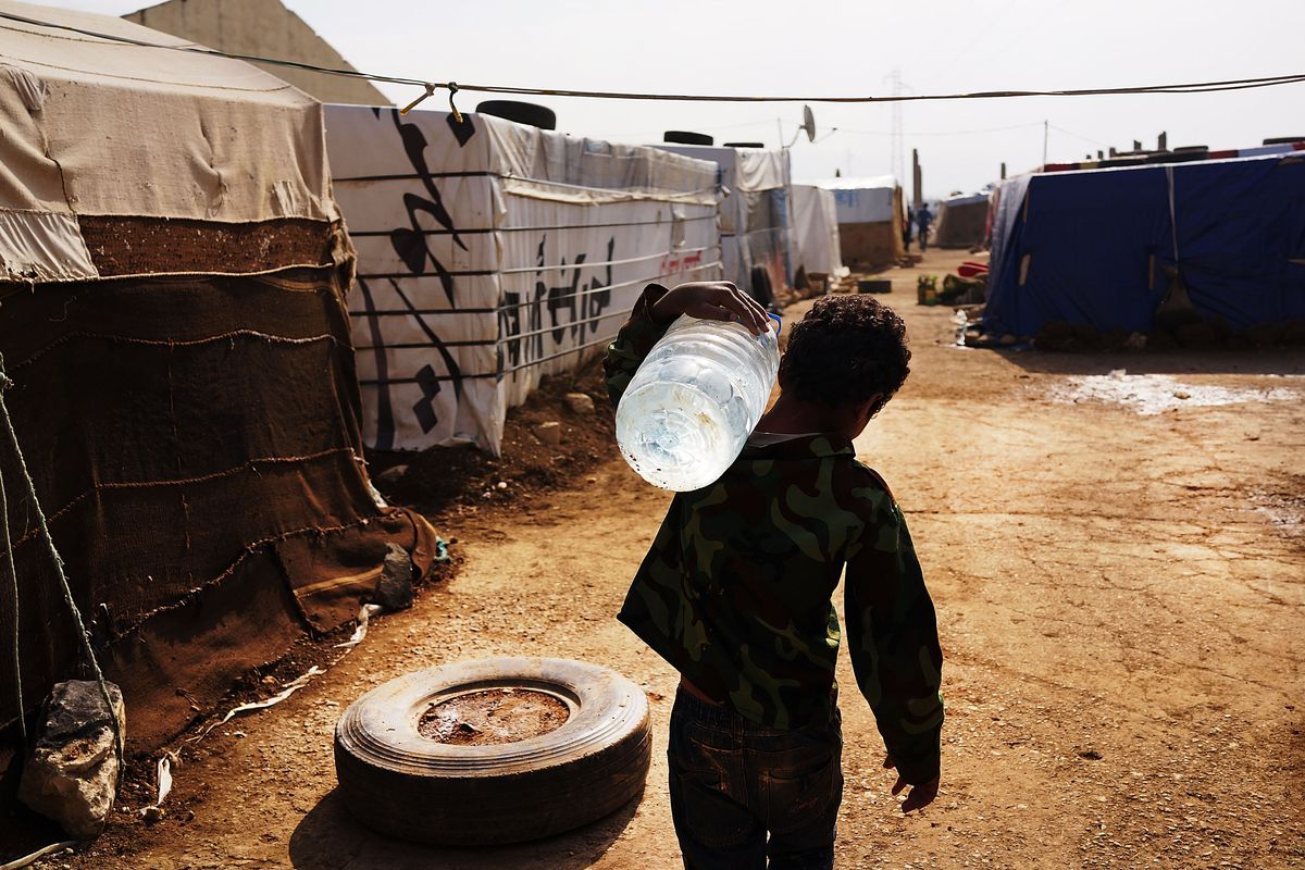 A Syrian refugee in Lebanon.