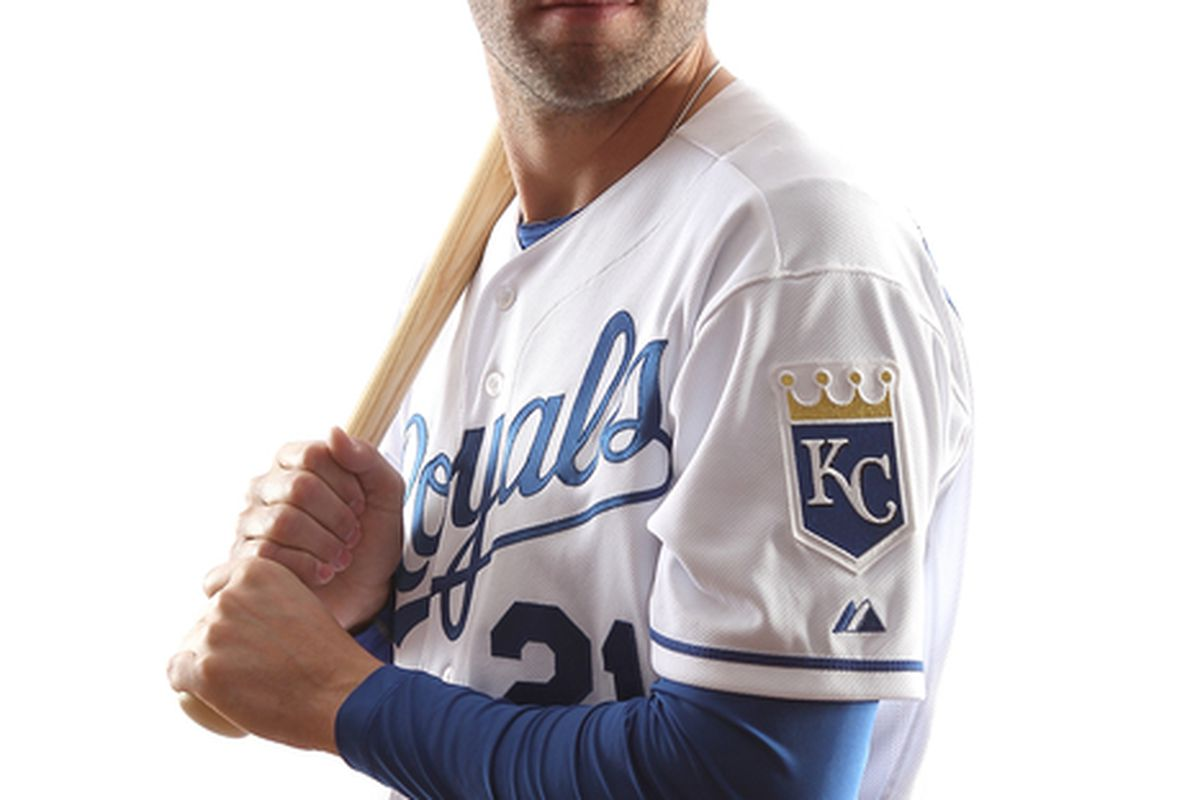 SURPRISE AZ - FEBRUARY 23:  Jeff Francoeur #21 of the Kansas City Royals poses for a portrait during Spring Training Media Day on February 23 2011 at Surprise Stadium in Surprise Arizona..  (Photo by Jonathan Ferrey/Getty Images)