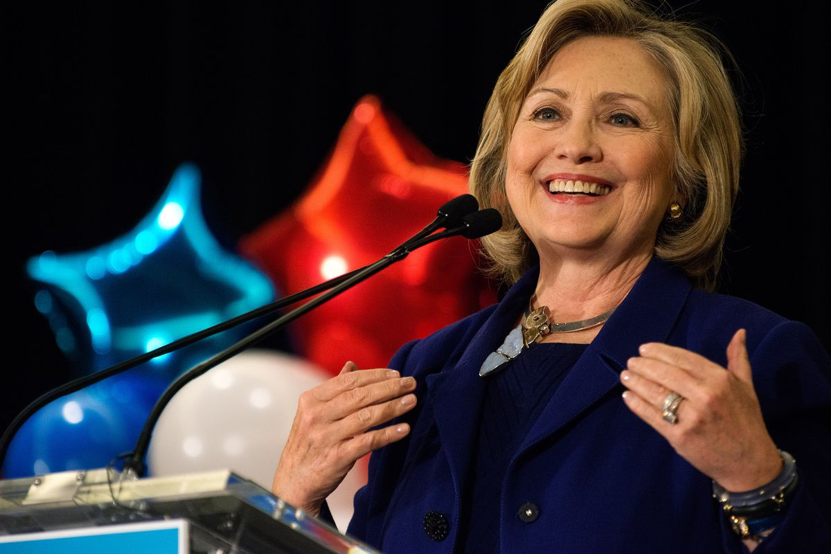 """Hillary Clinton in 2014, being neither """"macho"""" nor """"docile."""""""