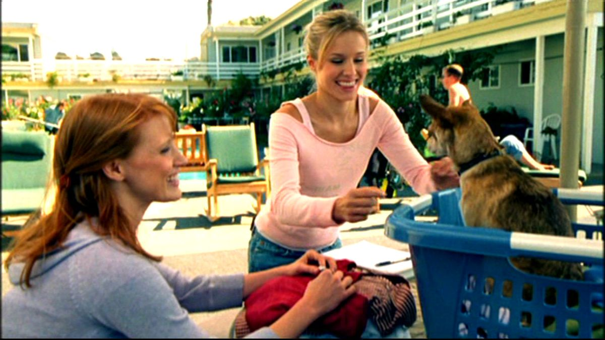 Jessica Chastain and Kristen Bell on Veronica Mars