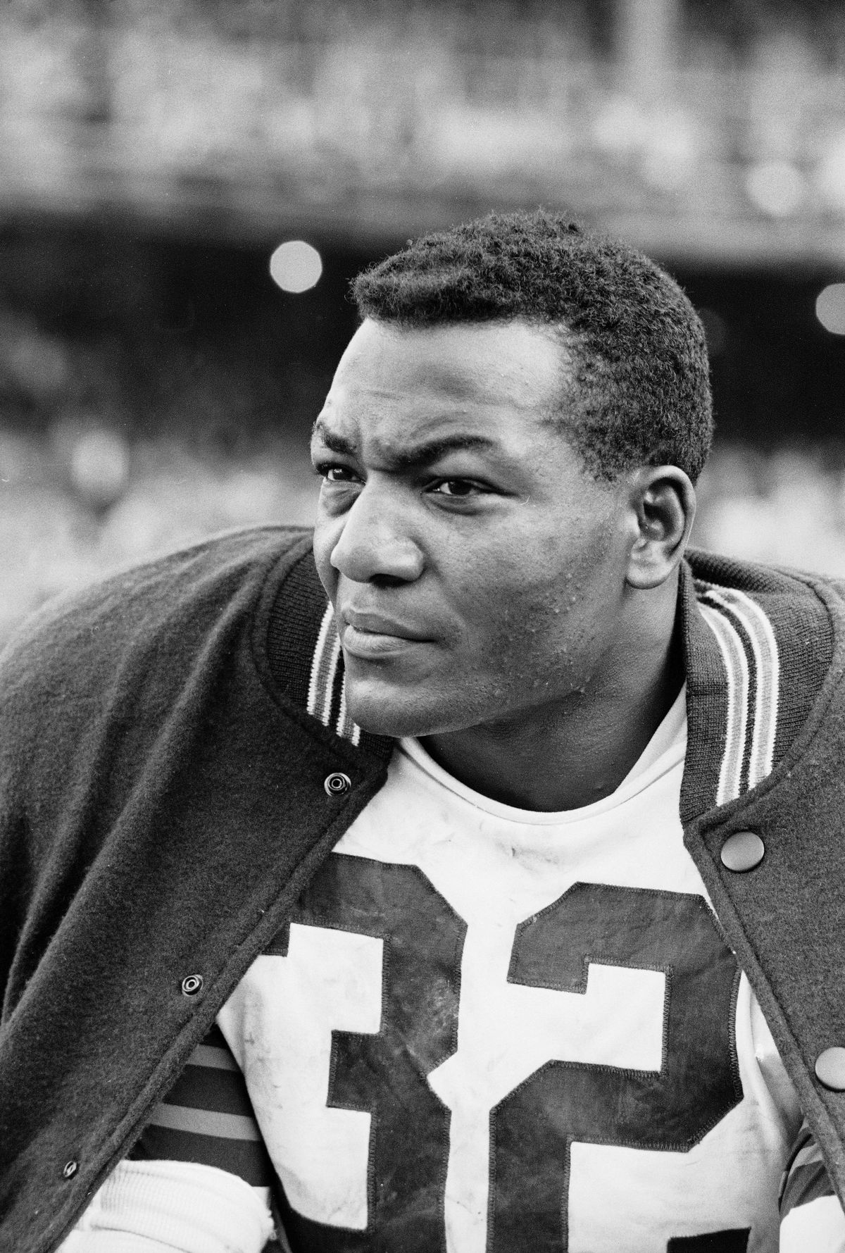 Jim Brown Watches From The Bench