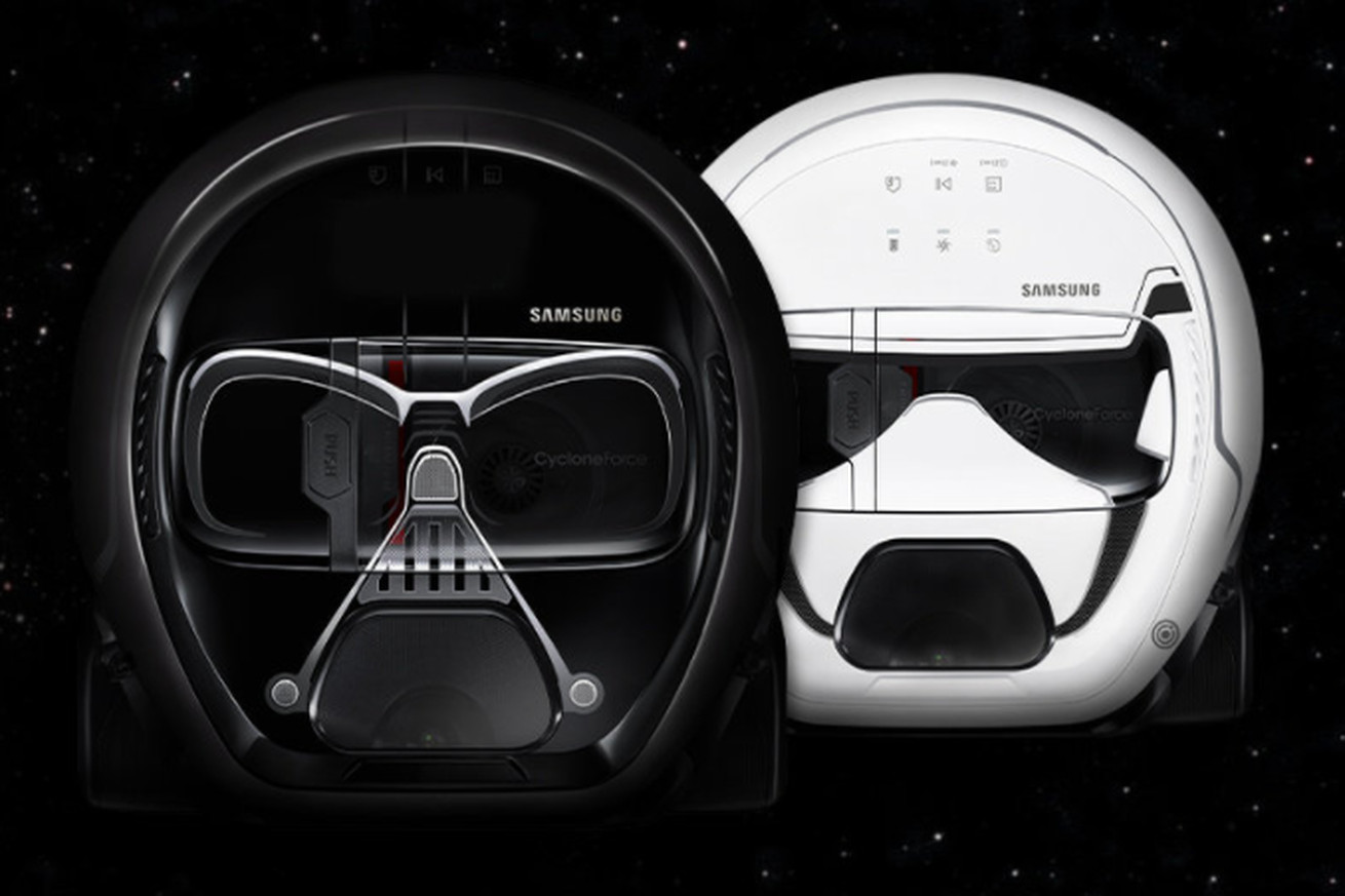 samsung made a darth vader vacuum complete with creepy breathing sounds