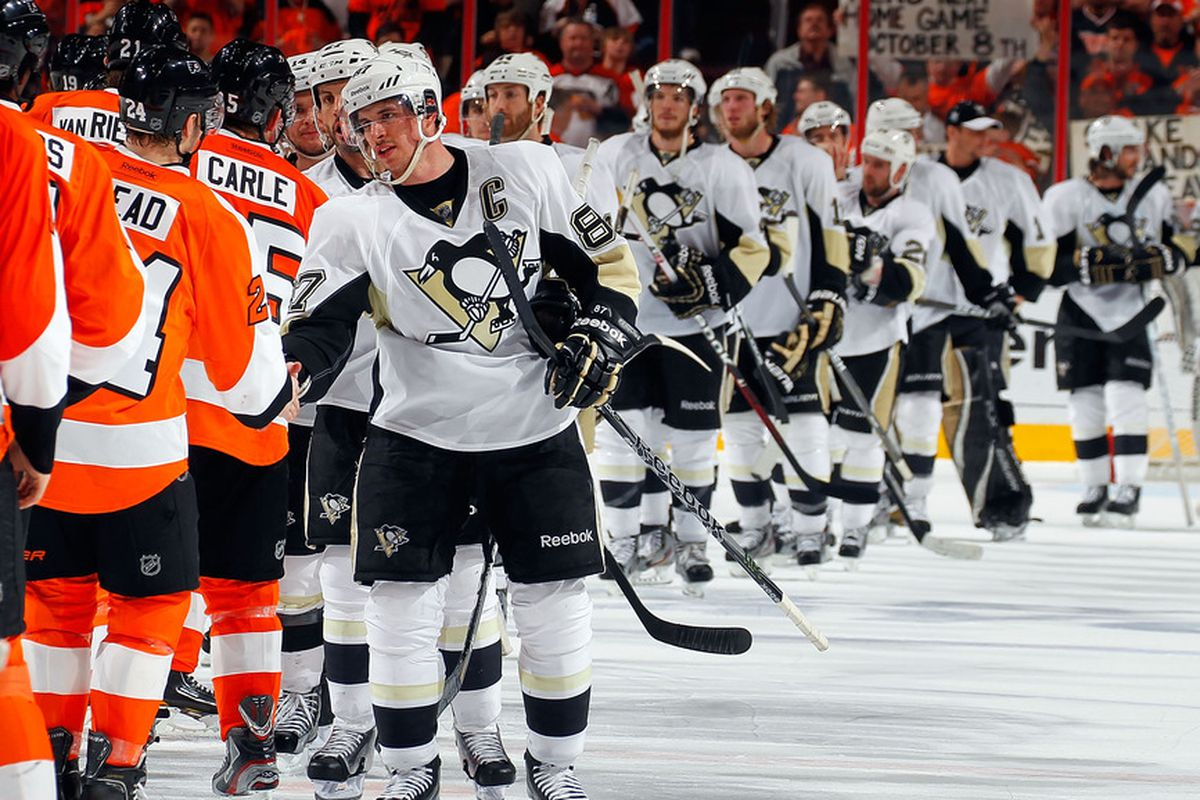 Out of respect for Sidney Crosby, lotta folks headed home tonight.