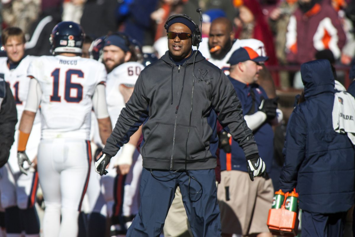 Mike London is trying to keep Virginia's recruiting class intact after a 4-8 season