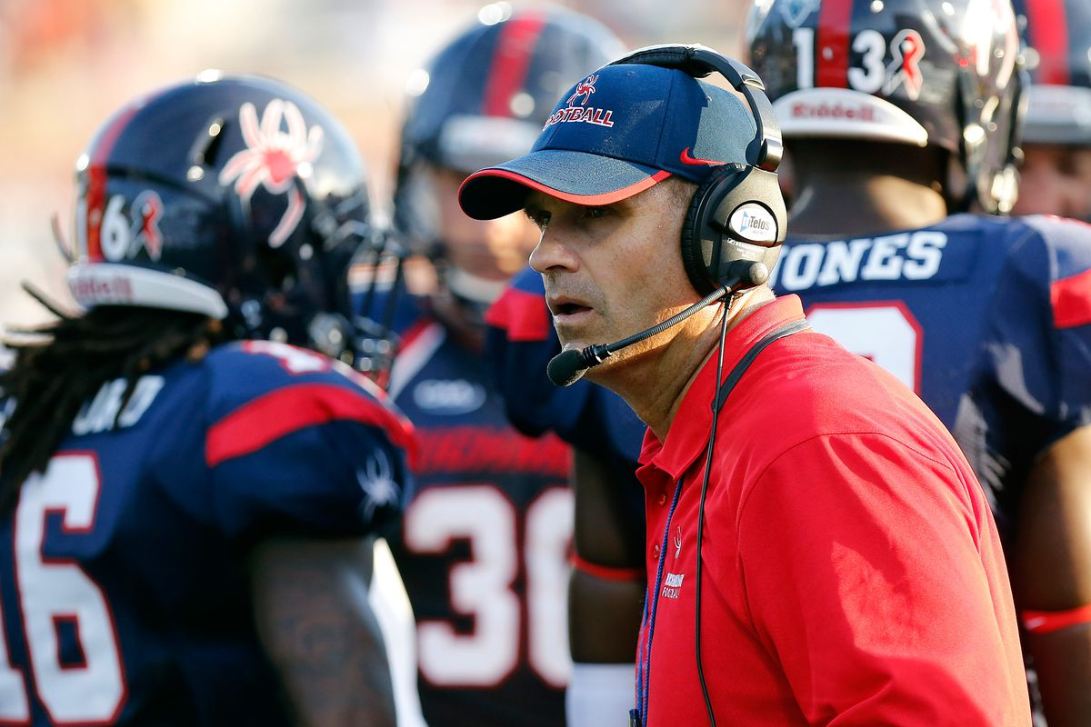 Head coach Danny Rocco and the FCS Richmond Spiders visit Byrd Stadium on Saturday.