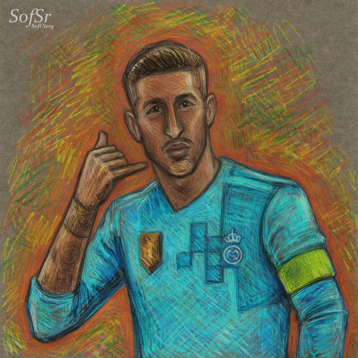 Sergio Ramos. Illustration by Sofi Serg.