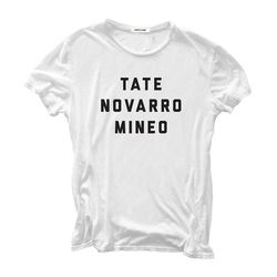 """Hiro Clark Hollywood Bablyon tee in White, <a href=""""http://www.hiroclark.com/products/hollywood-babylon-white"""">$128</a>"""
