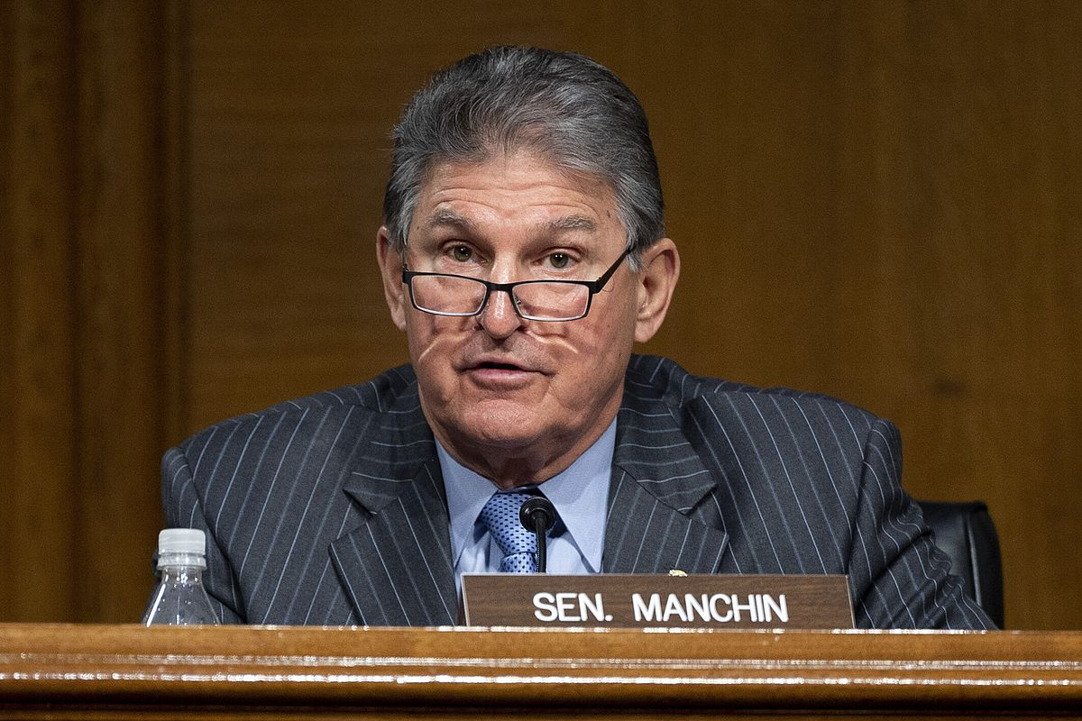 Committee Ranking Member Sen. Joe Manchin, D-WVa., speaks during a hearing to examine the nomination of former Gov. Jennifer Granholm, D-Mich., as she testifies before the Senate Energy and Natural Resources Committee during a hearing to examine her nomination to be Secretary of Energy, Wednesday, Jan. 27, 2021 on Capitol Hill in Washington.