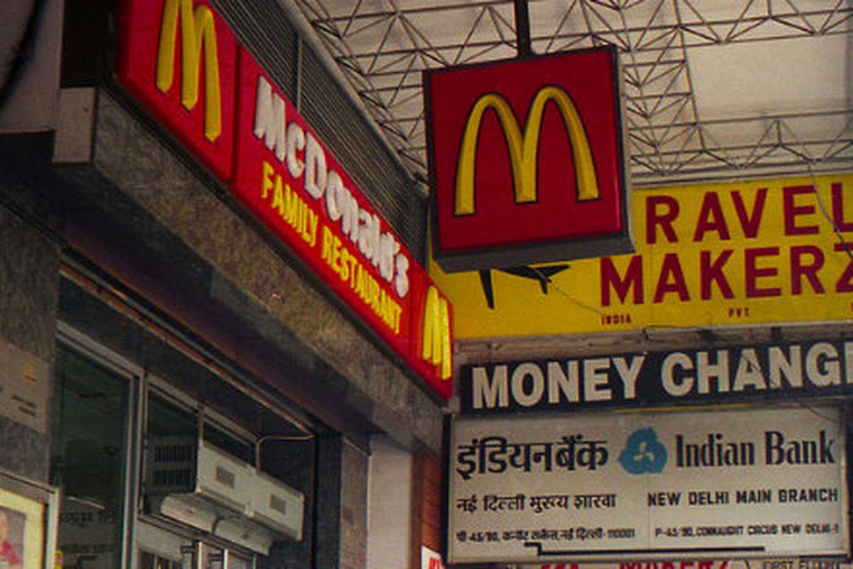 A McDonald's in New Delhi