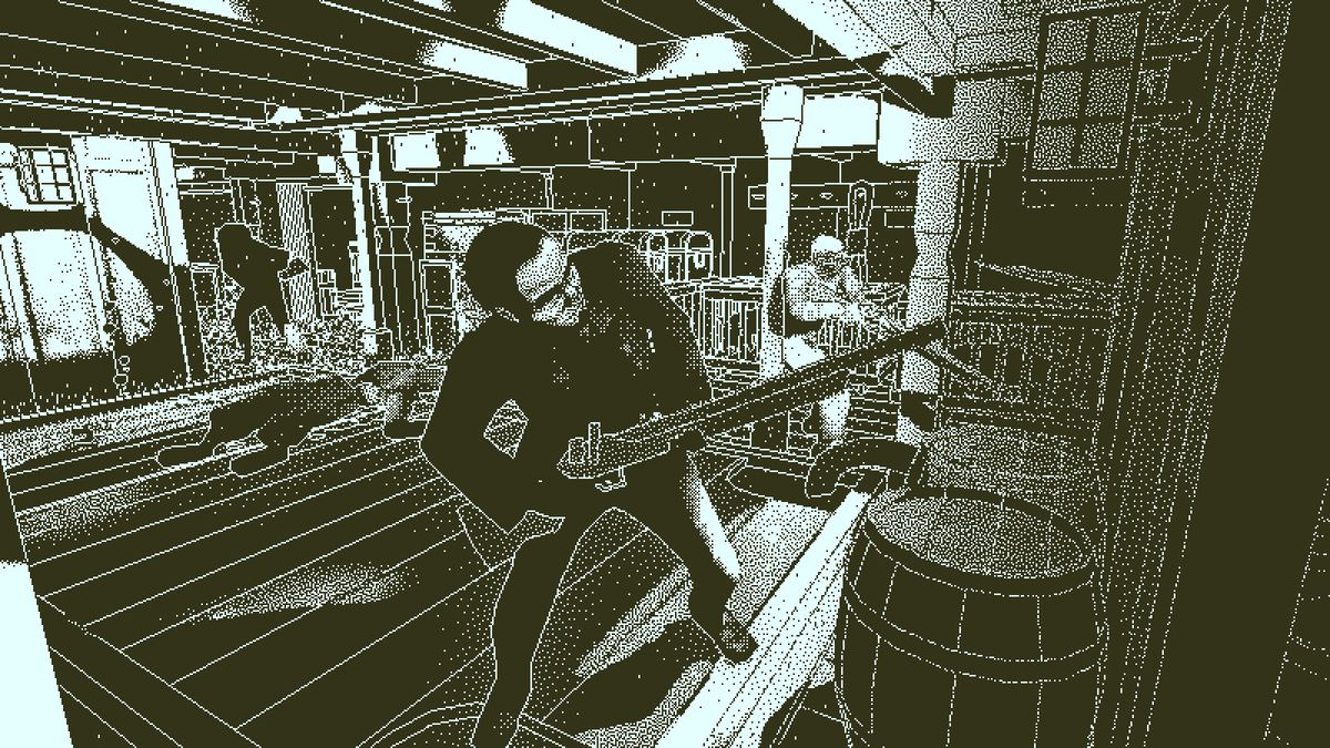 Return of the Obra Dinn - men carrying long guns