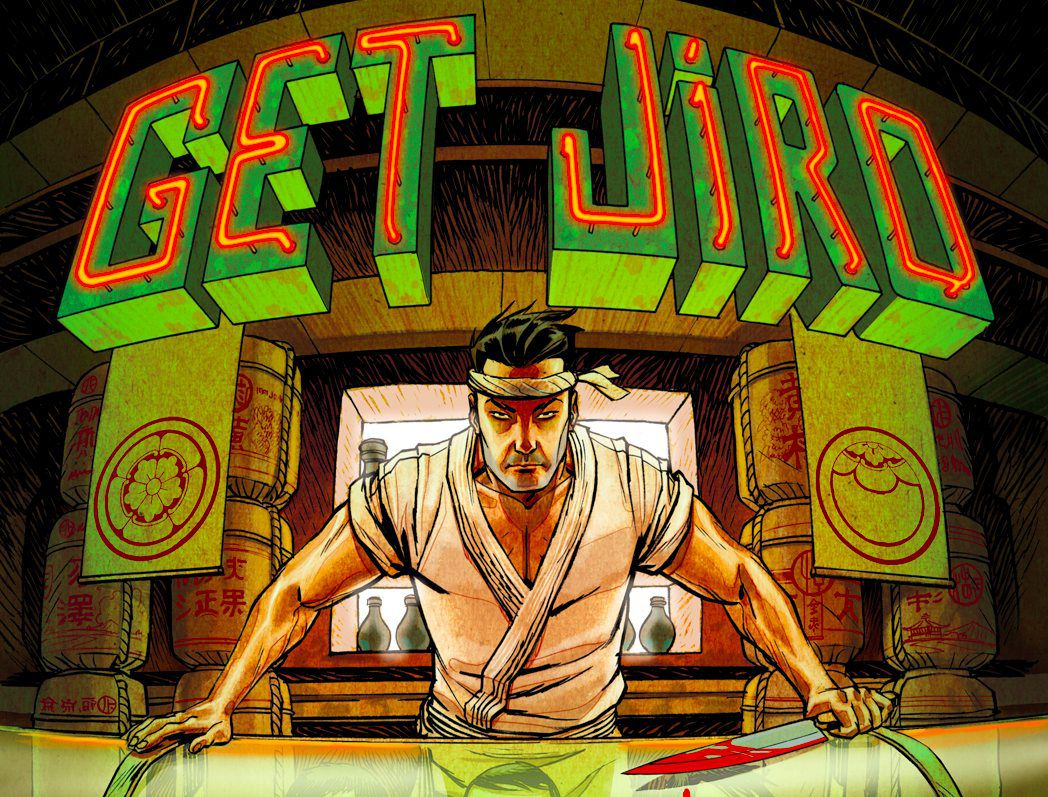 A close-up of the Get Jiro Cover; courtesy TK.