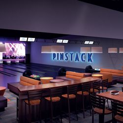 VIP private bowling lounge
