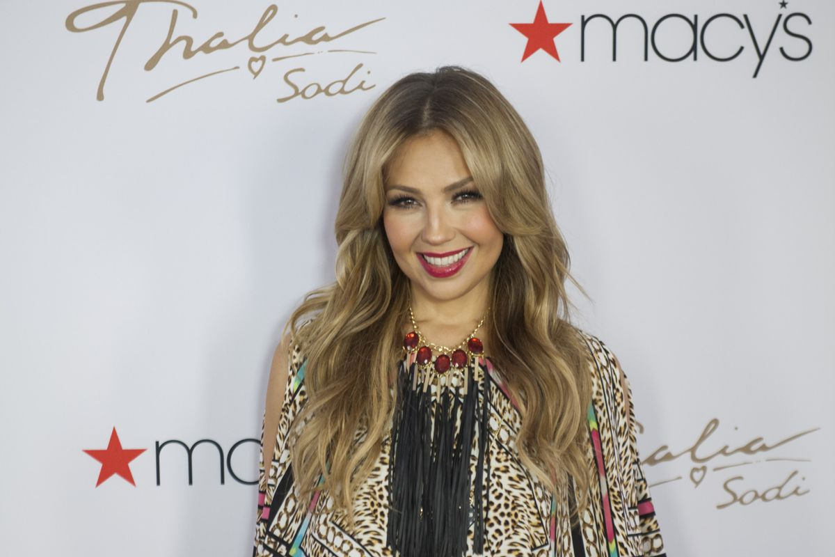 Thalía launching her latest collection at Macy's at Miami International Mall