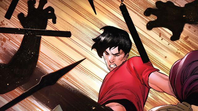 shang-chi beating up some bad guys in Shang-Chi #1, Marvel (2020)