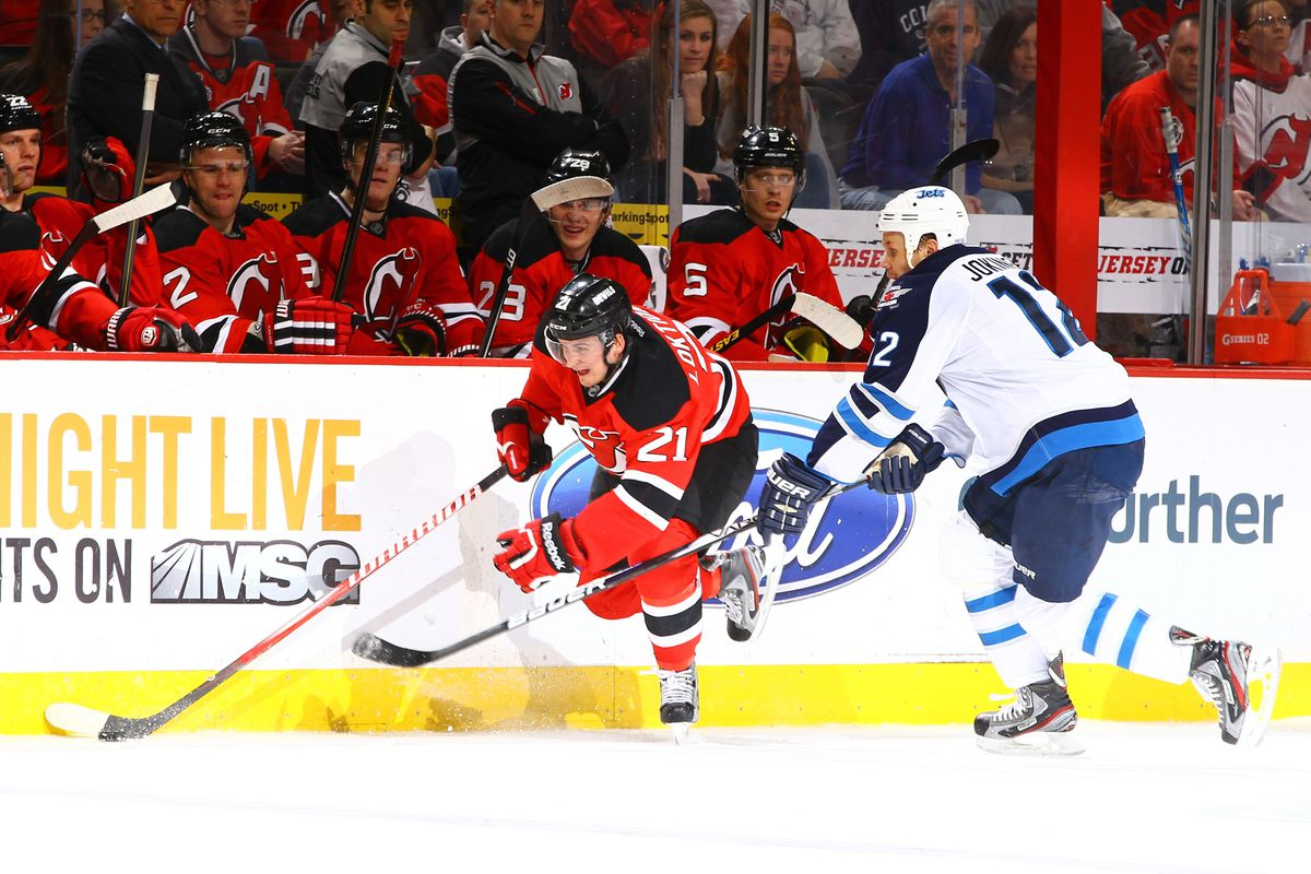 Andrei Loktionov may get to see more of Olli Jokinen tonight as he could start with Adam Henrique and Ilya Kovalchuk.