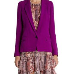 """<a href=""""http://www.barneys.com/on/demandware.store/Sites-BNY-Site/default/Product-Show?pid=502244558&cgid=BARNEYS&index=0"""">Valone Blazer</a>, $339 (was $855)"""
