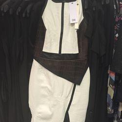 Jonathan Simkhai peplum leather crocodile print dress, size 2, $478 (was $1,195)