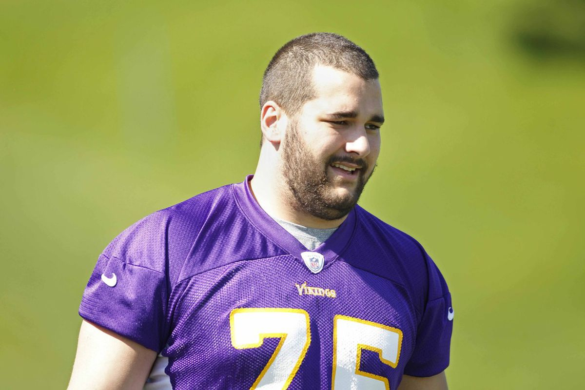Matt Kalil is part of a Vikings offensive line that is the youngest in the NFC North, and one of the youngest in the NFL. Mandatory Credit: Bruce Kluckhohn-US PRESSWIRE