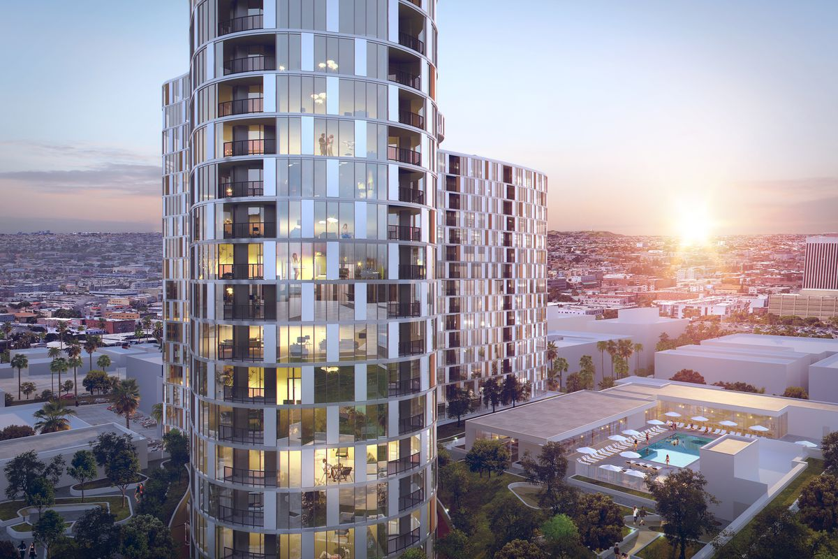 Construction underway on 25-story tower at Westlake, Koreatown