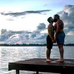 Pro wrestler Mike Parrow (right) is engaged to his fiancé Morgan Cole.