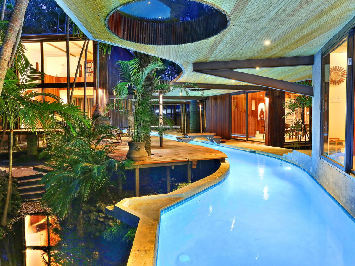Alfred Browning Parker's Woodsong in Coconut Grove with a large lap pool at its core
