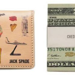 Jack Spade Icon Printed Leather Coin Box ($110) and Cheddar Money Clip ($30), available at Jack Spade.