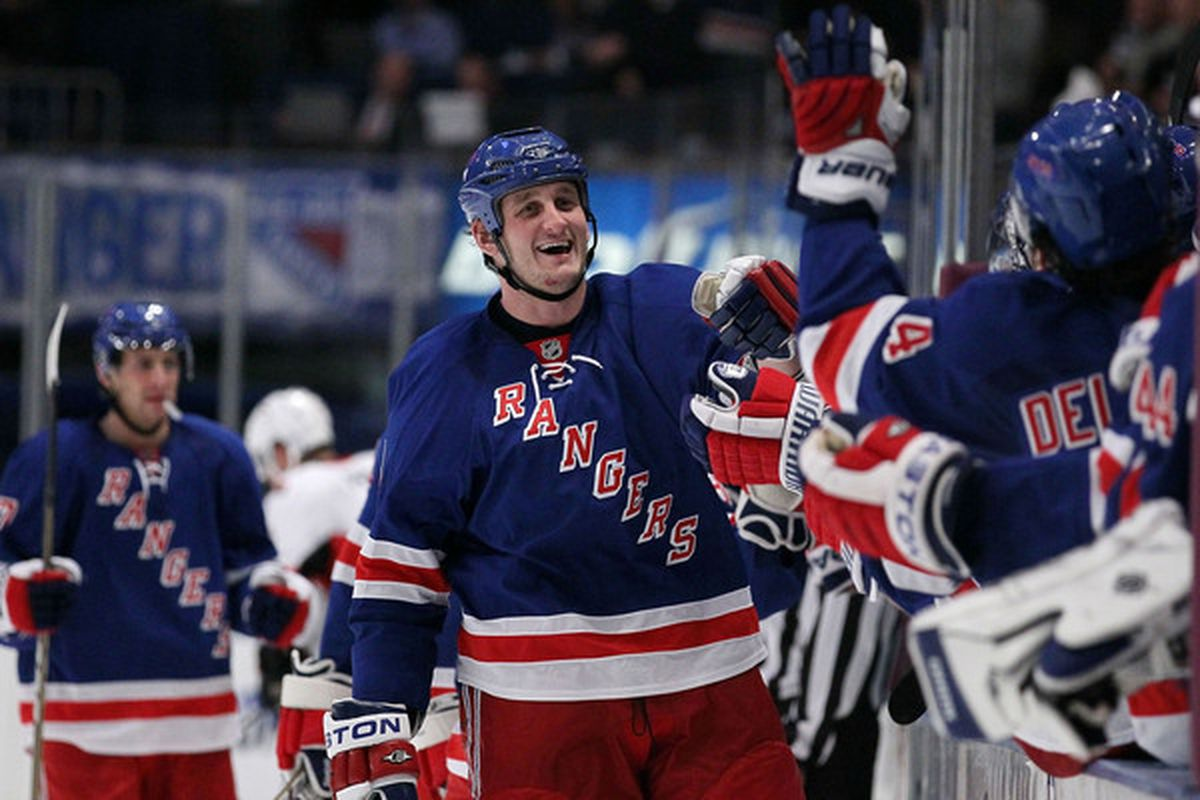 We would love to see more of this from Boogaard. (Photo by Chris McGrath/Getty Images)