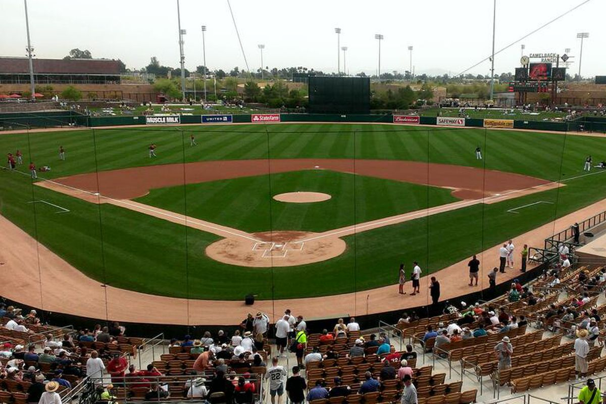 Live game webcast at 1pm on http://Dbacks.com  from here at @camelbackranch for #Dbacks at #WhiteSox