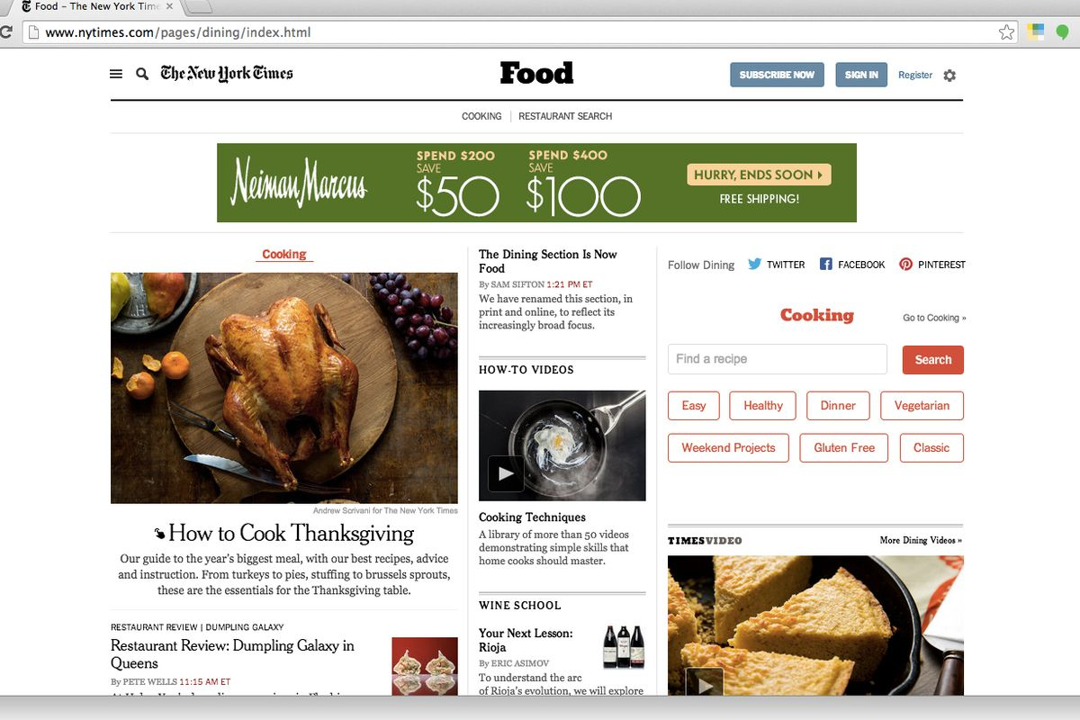 The New York Times' Dining Section Is Now Officially ...