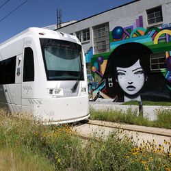 The S-Line streetcar travels between South Salt Lake and Sugar House on Tuesday, June 27, 2017.