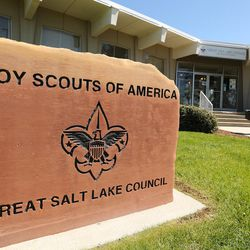 A man walks into the Boy Scouts of America Great Salt Lake Council building in Salt Lake City on Thursday, May 11, 2017. The Church of Jesus Christ of Latter-day Saints announced significant changes to the activity program for young men ages 14-18.