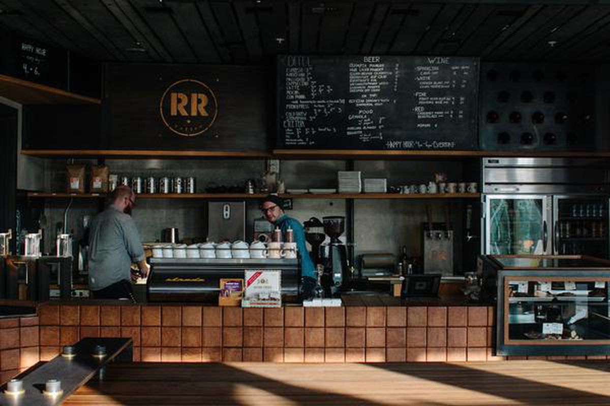 A picture of a cafe counter at Ristretto's NE Couch location
