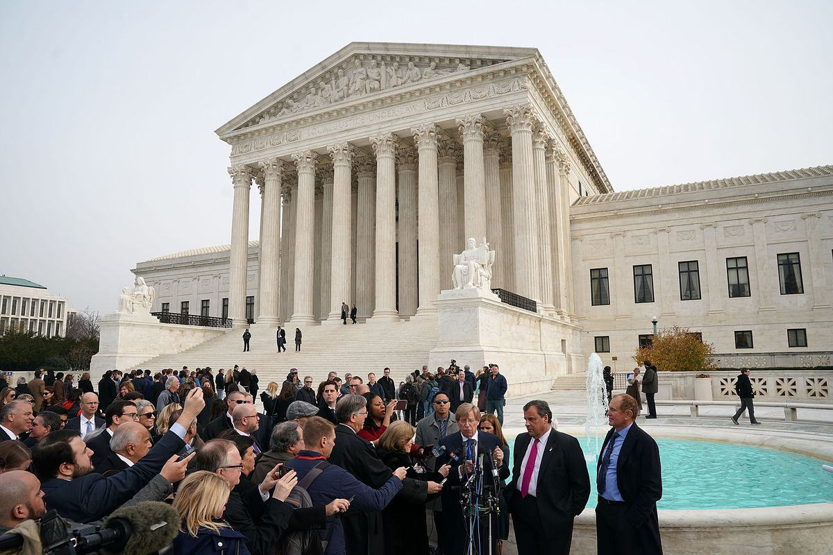 NJ Gov. Christie Attends Supreme Court Arguments On Legalized Sports Betting