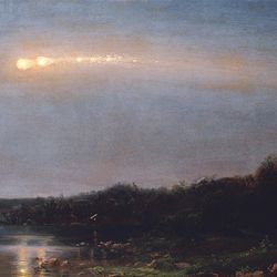 """""""Meteor of 1860"""" by American artist Frederic Edwin Church is among 57 works featured in """"The Civil War and American Art"""" at the Smithsonian Institution's National Museum of American Art through April 28. (NMAA/MCT)"""