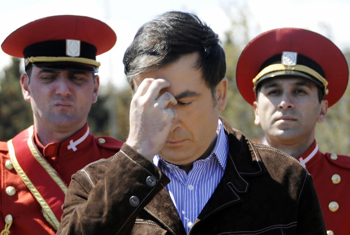 Saakashvili soldier grave
