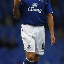 Jagielka during his second season at Everton