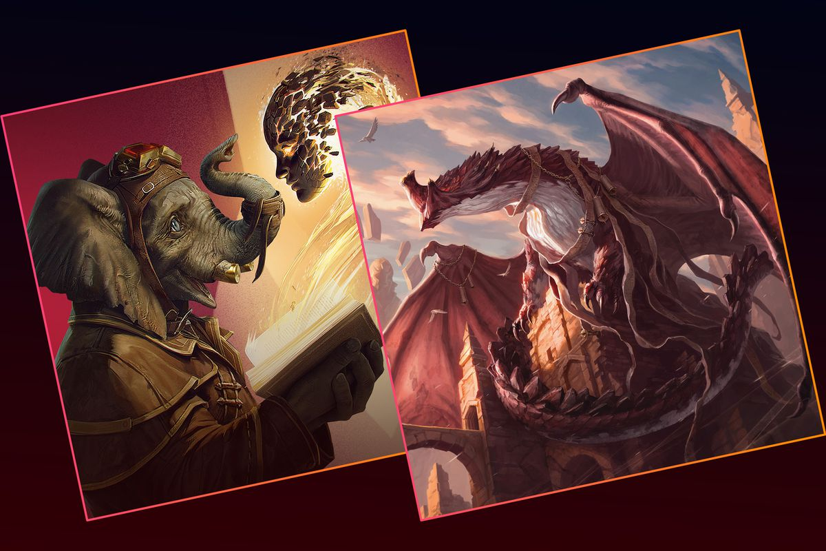 Graphic featuring original art from Wizards of the Coast.