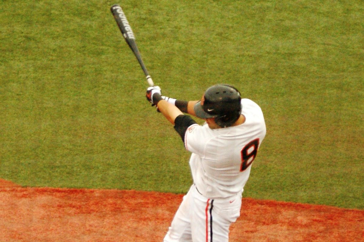 Michael Conforto homered twice, including his first career grand slam, to power Oregon St. to a sweep-clinching win over Bryant.