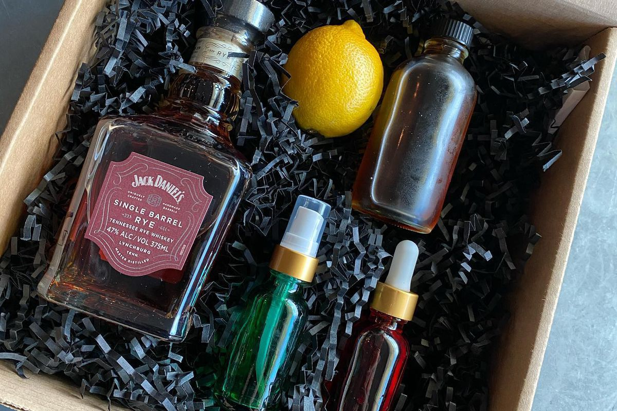 A cocktail kit from Drink.Well