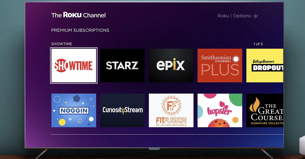 QnA VBage Roku Channel adds subscriptions for Showtime, Starz, and other premium networks