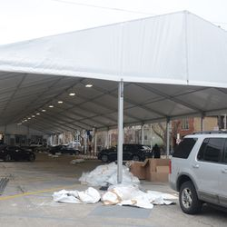 Another view of the VIP/Player's Parking Lot with the side curtains removed -